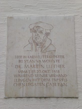 Luther Tafel i Augsburg